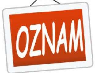 OZNAM- Informatívny triedny aktív